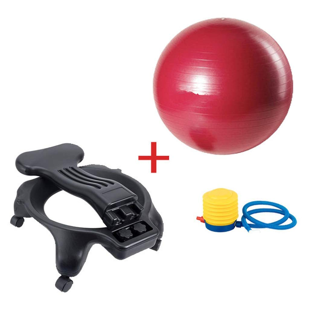 TangMengYun Balance Ball Chair Exercise Stability Yoga Ball Premium Ergonomic Chair for Home and Office Desk with Air Pump (Color : Red)