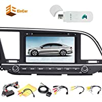 3G dongle + Android 7.1 Quad Core Car DVD Player for Elantra 2016 Double Din Stereo Radio Receiver 8 Inch Capacitive Touchscreen GPS Navigation Autoradio headunit Support Bluetooth/OBD2/1080P/WiFi/3G