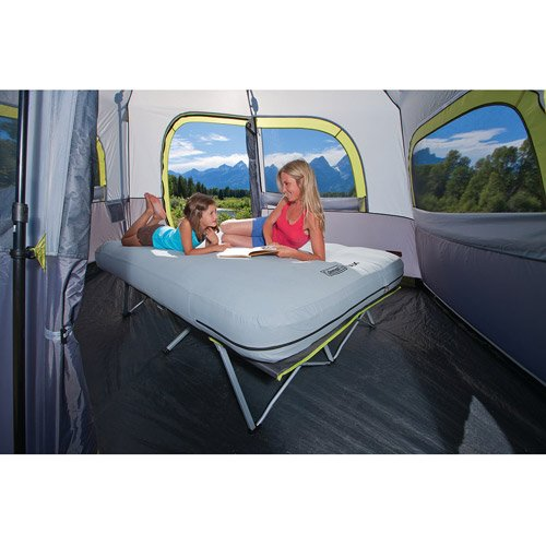 Coleman® MAX Pack-Away® Airbed Cot Queen with Battery Pump, Outdoor Stuffs