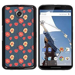 Be Good Phone Accessory // Dura Cáscara cubierta Protectora Caso Carcasa Funda de Protección para Motorola NEXUS 6 / X / Moto X Pro // floral blue red pink wallpaper native