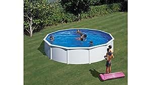 Hanseatic Set (5piezas): Atril de piscina (con breitem pasamanos en blanco (en 3tamaños) 460cm, 120cm