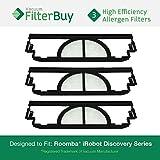 roomba 4910 - 3-pack iRobot Roomba Discovery Filter Kit, Part #'s 4910, VP-RM400-3FLT, VPRM4003FLT. Designed by FilterBuy to fit iRobot Roomba Discovery Series Vacuum Cleaners