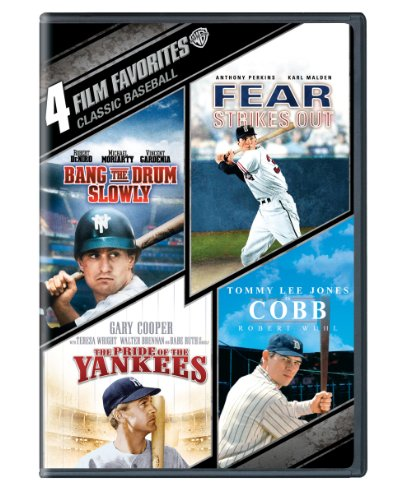 4 Film Favorites Classic Baseball ( Bang The Drum Slowly / Fear Strikes out / The Pride Of The Yankees / Cobb) by Warner Home Video