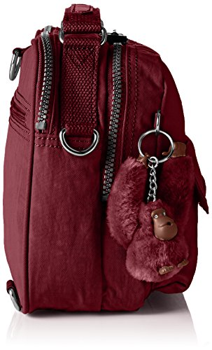 T Crimson Handle Candy B A12 H Kipling 5 x Red cm Womens x Top Bag 22x19x11 B7xRZqg