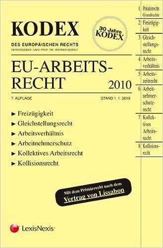 Kodex Eu Arbeitsrecht Amazonde Werner Doralt Silvia Schmid