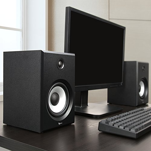 ROSEWILL Bluetooth Computer Speaker System for Laptop, Smartphone, Tablet and Multiple Devices. 2.0 Active Near Field Monitor, Studio Monitor Speaker, Wooden Enclosure. Best Wireless Bookshelf Speaker by Rosewill (Image #2)