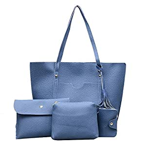 19bdb1313350 Amazon.com  NEARTIME Women 4Pcs Shoulder Bags