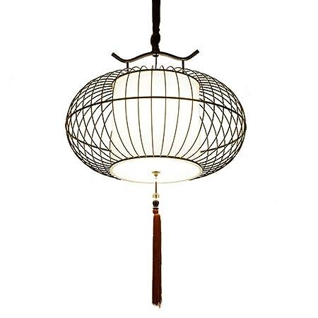Araña de hierro jaula de pájaros antiguos nueva lámpara del techo ...