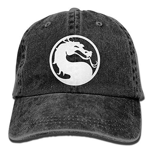Cowboy Hat Mortal Kombat Dragon Logo Adult Adjustable Athletic Design Best Graphic Cap for Men and Women -