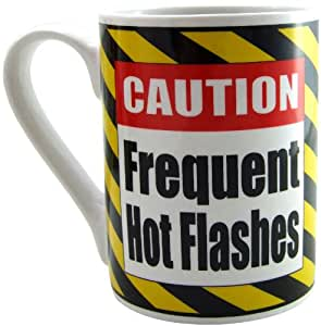 Amazon.com: Caut Frequent Hot Flashes Mug, 14oz: Health & Personal