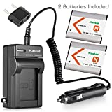 Kastar Battery (2-Pack) and Charger Kit for NP-BN1, BC-CSN work with Sony Cyber-shot DSC-QX10,DSC-QX100,DSC-T99,DSC-T110,DSC-TF1,DSC-TX5,TX7,TX9,DSC-TX10,DSC-TX20,DSC-TX30,DSC-TX55,DSC-TX66,DSC-TX100V,DSC-TX200V,DSC-W310,DSC-W320,DSC-W330,DSC-W350,DSC-W36