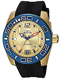 Invicta Men's 'Aviator' Automatic Stainless Steel and Silicone Casual Watch, Color:Black (Model: 23532)