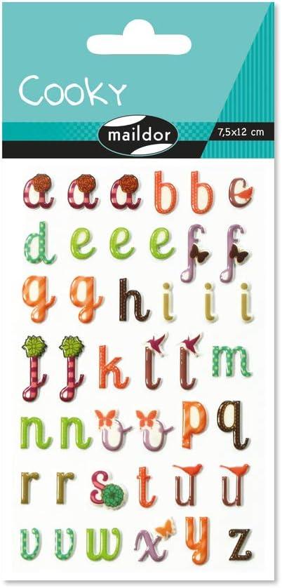 Malidor 3d Aufkleber Buchstaben 17 5 X 9 X 0 1 Cm Kunststoff Verzierte Motive Küche Haushalt