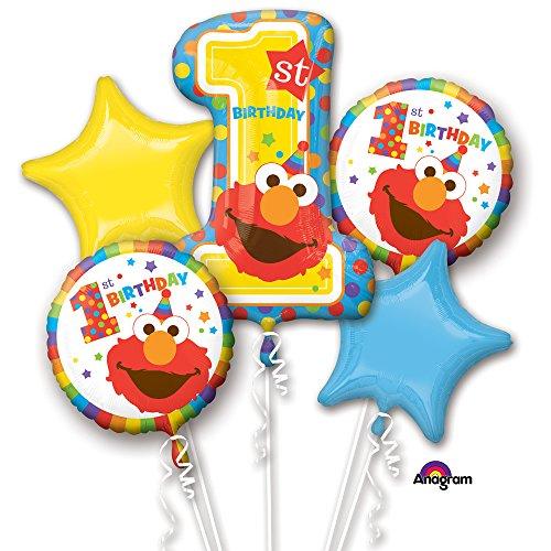 - Mayflower Products Sesame Street 1st Birthday Balloon Bouquet