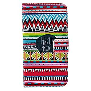 JJE Hakuna Matata Pattern PU Leather Full Body Case with Card Slot for Samsung Galaxy S5 Mini