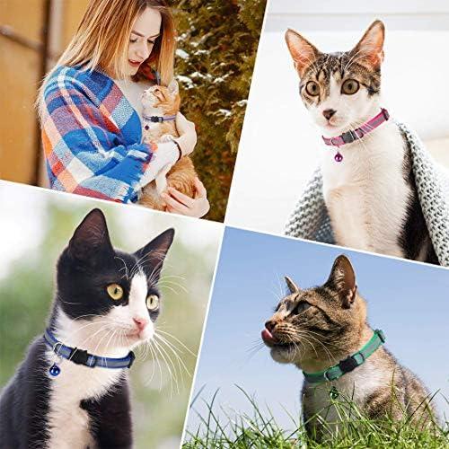 12 Pezzi Con Campanello JJYHEHOT Collari Riflettente Per Gatti Collare Per Gatti a Sgancio Rapido Facile Da Trovare Gattini O Cuccioli