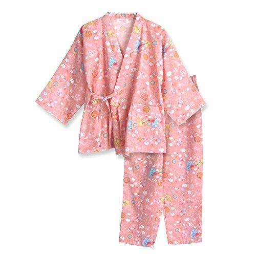 40342e32fd4f9 Amazon.co.jp:  ノーブランド品 綿100% ガールズ 長袖 パジャマ 和風 ふんわり コットン ダブルガーゼ  服&ファッション小物