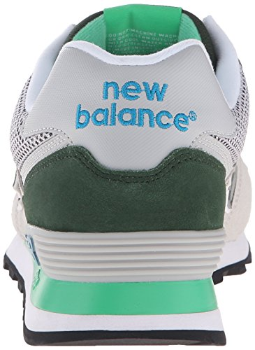 New Balance 574 Lifestyle Suede/Textile, Zapatillas De Gimnasia para Hombre Beige / Gris / Verde