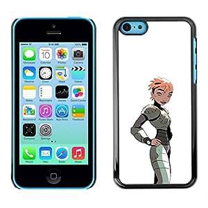 Carcasa Funda Prima Delgada SLIM Casa Case Bandera Cover Shell para Apple Iphone 5C / Business Style Girl Woman Cartoon Comic Gaming Art Costume