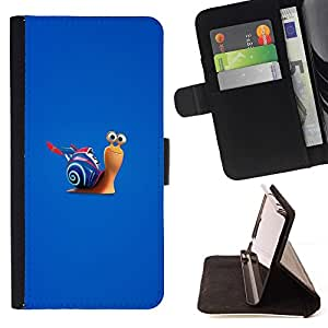 DEVIL CASE - FOR HTC DESIRE 816 - Fast Turb Snail - Style PU Leather Case Wallet Flip Stand Flap Closure Cover
