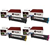 Laser Tek Services® 4 Pack HP131X Replacement Toner Cartridges(CF210X, CF211A, CF212A, CF213A) for the HP 131X LaserJet Pro 200 Color M251n M276n M251nw M276nw