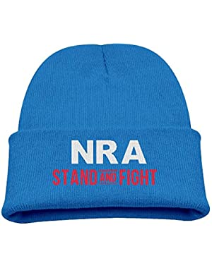NRA Stand and Fight Boy Girl Beanie Hat Knitted Beanie Knit Beanie
