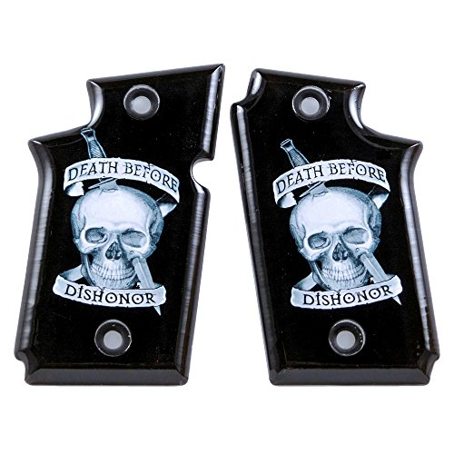 Custom Acrylic SPD Grips Compatible/Replacement for Sig Sauer P938 Ambidextrous Death Before Dishonor