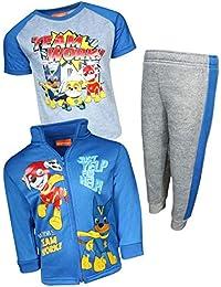 Paw Patrol Boys 3-Piece Fleece Zip Jacket Jogger T-Shirt Set (Toddler/Little Kid)