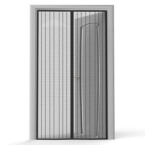 Planet Homeware Full Frame Heavy Duty Velcro Mesh Magnetic Screen Door Curtain Fits up to 35 x 82-Inch - - Amazon.com