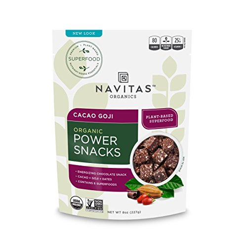 Navitas Organics Cacao Goji Superfood Power Snacks, 8 oz. (Organic Snacks)