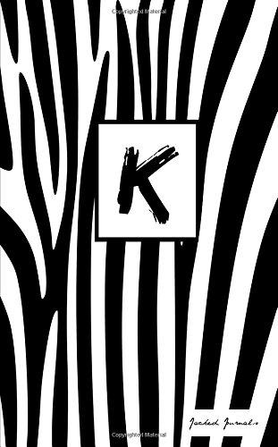 Download K: Personalized Initial Journal/Notebook/Diary - Zebra Print (Volume 11) pdf epub