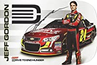 AUTOGRAPHED 2013 Jeff Gordon #24 AARP / Drive to End Hunger Racing (Hendrick Motorsports) Signed Collectible Picture 7X11 Inch NASCAR Hero Card Photo with COA from Trackside Autographs