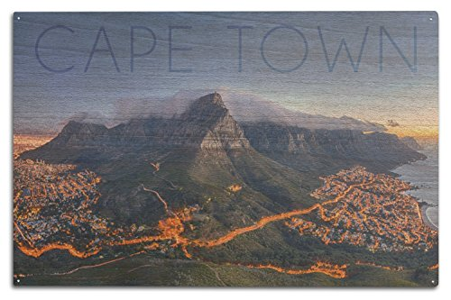 Cape Town, South Africa - Table Mountain (10x15 Wood Wall Sign, Wall Decor Ready to Hang)