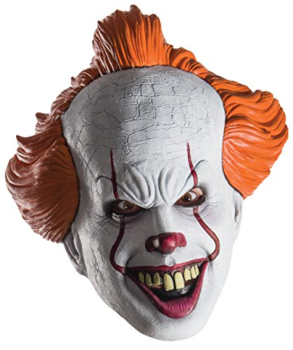 Rubie's Women's Pennywise Mask, As Shown, (Pennywise Clown Mask Costume)