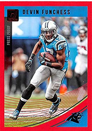 2018 Donruss Press Proof Red Football  41 Devin Funchess Carolina Panthers 979393aba