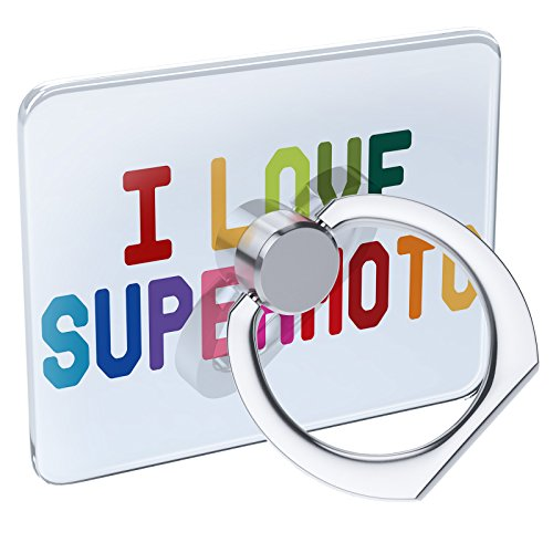 Supermoto Stands - Cell Phone Ring Holder I Love Supermoto,Colorful Collapsible Grip & Stand Neonblond