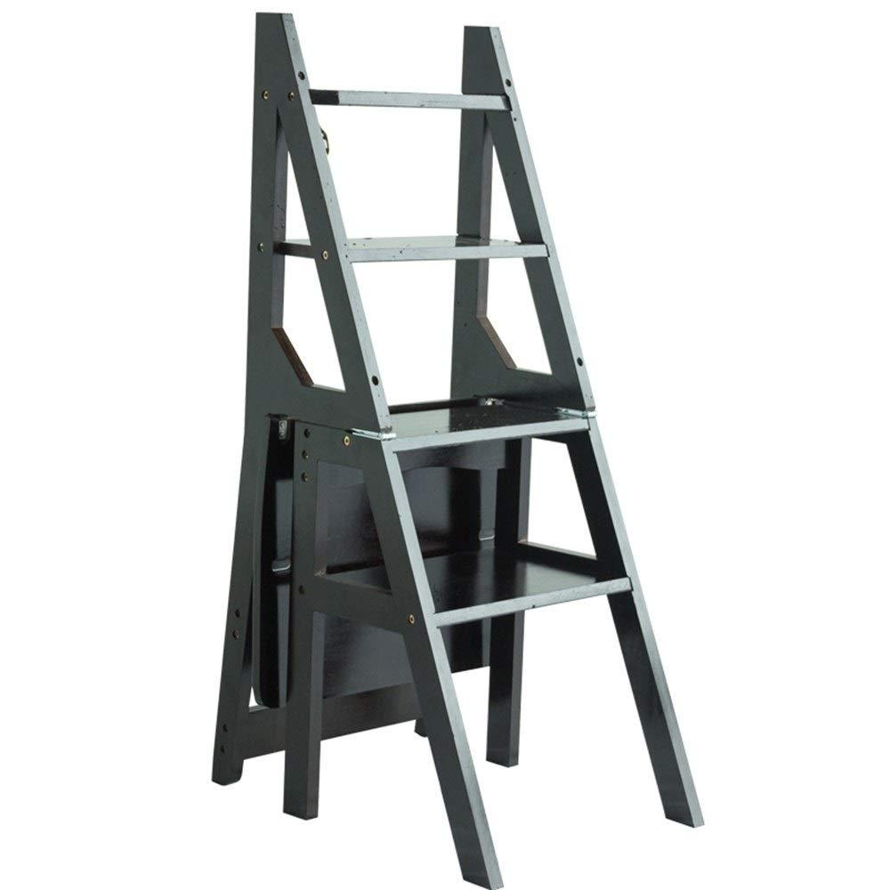 Sgabello Scaletta Pieghevole In Legno.Gaixia Ladder Sgabello Scaletta Pieghevole Multifunzionale Sgabello