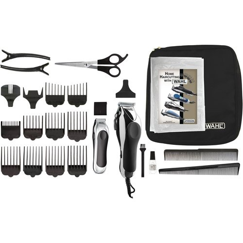 WAHL Deluxe Chrome Pro Home Haircutting Kit Deluxe Haircut Kit 25 Piece