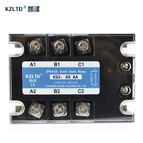 Electrical Equipments Tsr-40Aa Three Phase Solid State Relay 40A 90-280V Ac To 30-480V Ac Solid State Switch Ssr 40A Quality Guarantee Ks3-40Aa