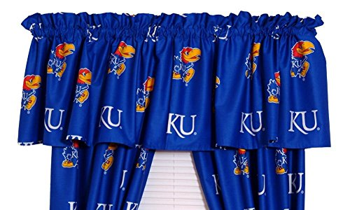 (College Covers Kansas Printed Curtain Valance )