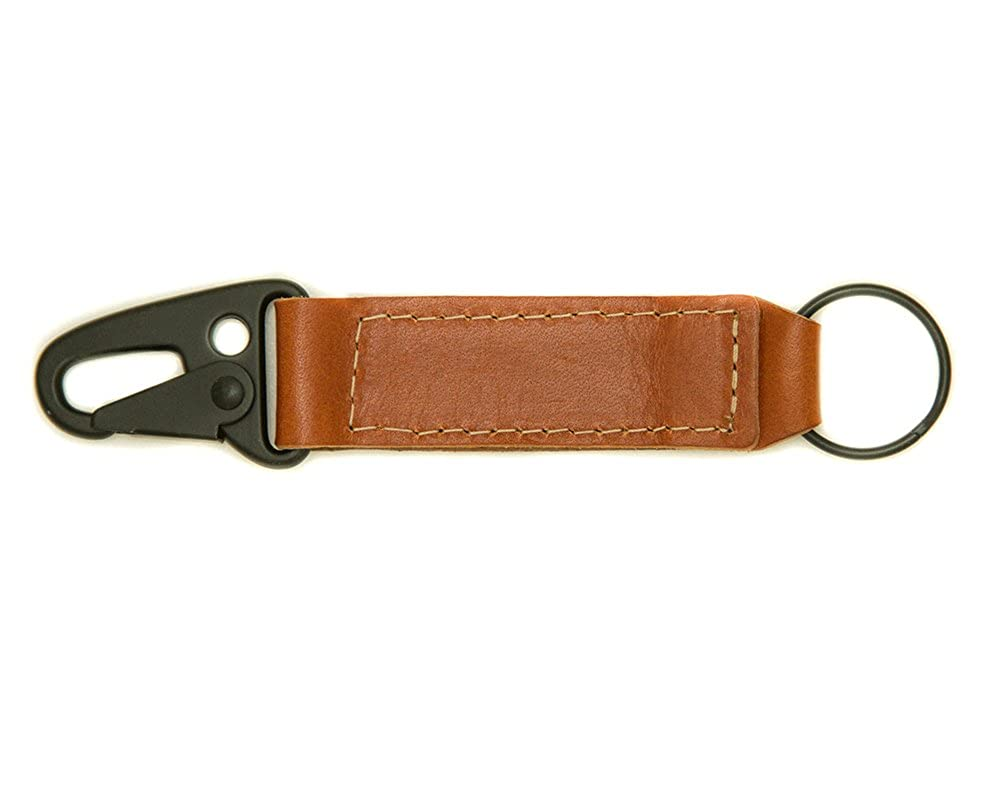 Revere Leather Key Chain with clip attachment USA Made In California