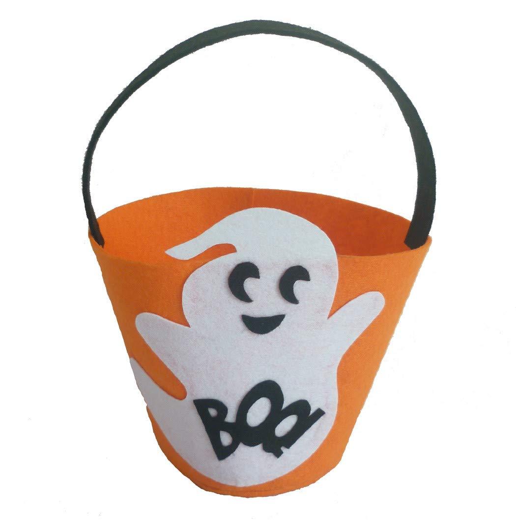 Yoyorule Halloween Drum Pumpkin White Ghost Black Cat Gift Bag Ghost Festival Candy Bag Childrens