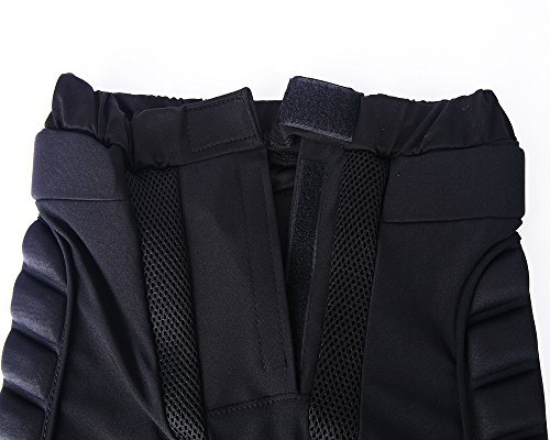 Ohmotor 3D Padded Protective Shorts Hip Butt EVA Pad Short Pants Heavy Duty Protective Gear Guard Drop Resistance for Ski Skiing Skating Snowboard Cycling, Fits for Kids / Teens / Adults
