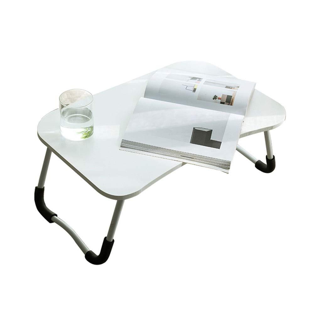 折りたたみラップトップテーブル研究テーブル多機能小さなテーブルベッドコンピュータデスクL60×W40×H25cm GW (Color : 白)   B07RHJH6SM