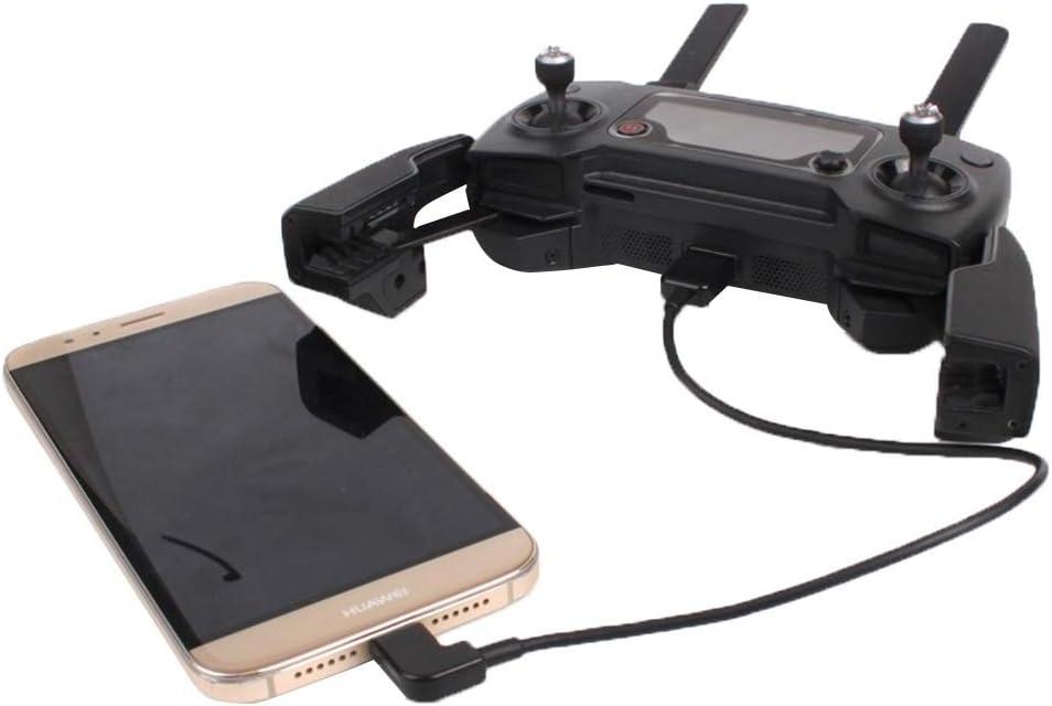 XIAOMIN 30cm USB to Micro USB Right Angle Data Connector Cable for DJI Spark//Mavic PRO//Phantom 3 /& 4 Inspire 1 /& 2 Durable