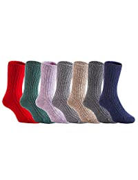 Lian LifeStyle Boy's 3 Pairs Pack Wool Socks Random Boy Color 4 Sizes
