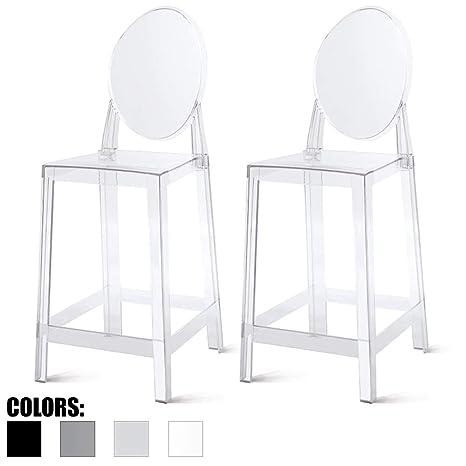 Juego de 2 sillones Modernos de Ghost con Brazo de ...