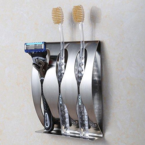 Toothbrush Razor Holder- Stainless Steel Bathroom Accessories Organizer