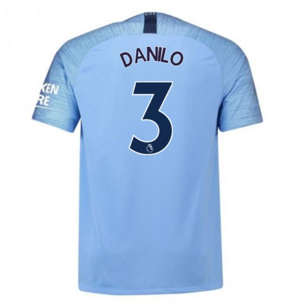 2018-2019 Man City Home Nike Football Soccer T-Shirt Camiseta ...