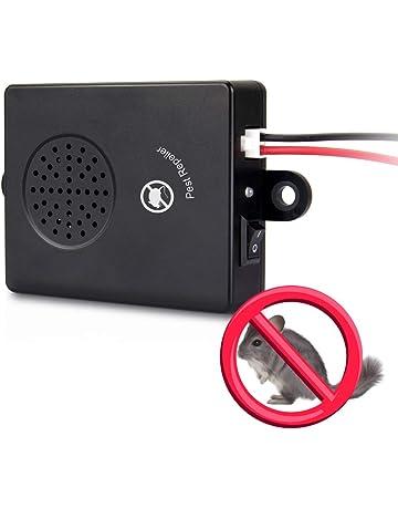 LEH - Ahuyentador de martas para Coche con ultrasonido y función de luz de Flash LED